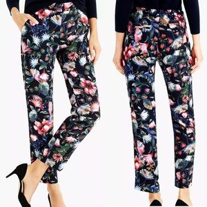 J.CREW Pants Everyday Crepe Pull On Navy Floral 2
